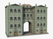 ファンタジー中世の建物 3d model
