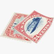 Znaczki pocztowe V1 3d model