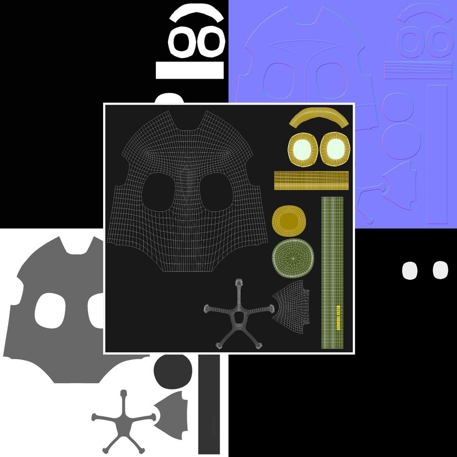 Maschera antigas royalty-free 3d model - Preview no. 8