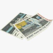 Znaczki pocztowe V4 3d model