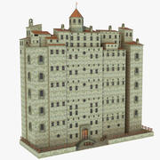 Fantasy Medieval Building V2 3d model