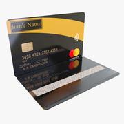 Karta bankowa Lowpoly 3d model