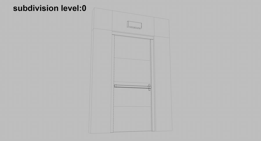 Acil Durumdan Çık royalty-free 3d model - Preview no. 18