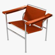 Sedia marrone minimalista Le Corbusier LC1 3d model