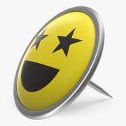 Smiley Pin 3d model