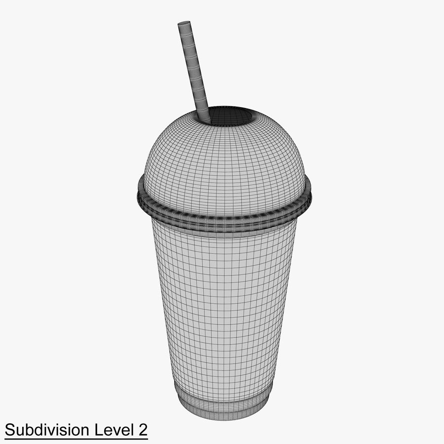 Plastic Cup 500ml - 01 royalty-free 3d model - Preview no. 11