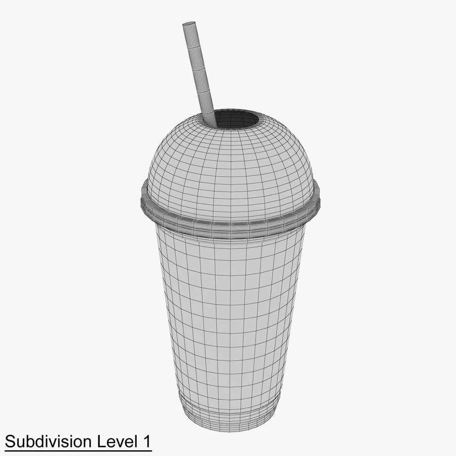 Plastic Cup 500ml - 01 royalty-free 3d model - Preview no. 10