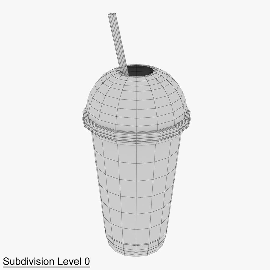 Plastic Cup 500ml - 01 royalty-free 3d model - Preview no. 9
