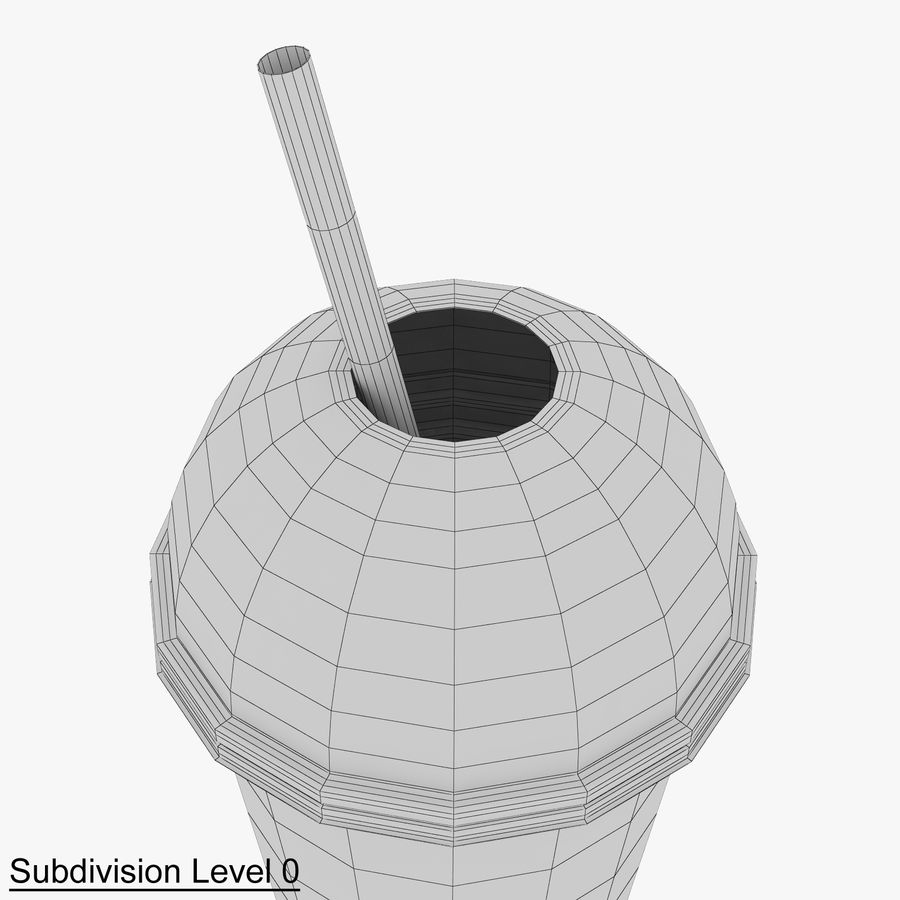 Plastic Cup 500ml - 01 royalty-free 3d model - Preview no. 12