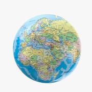 Geopolityczny model 3D Globe 3d model