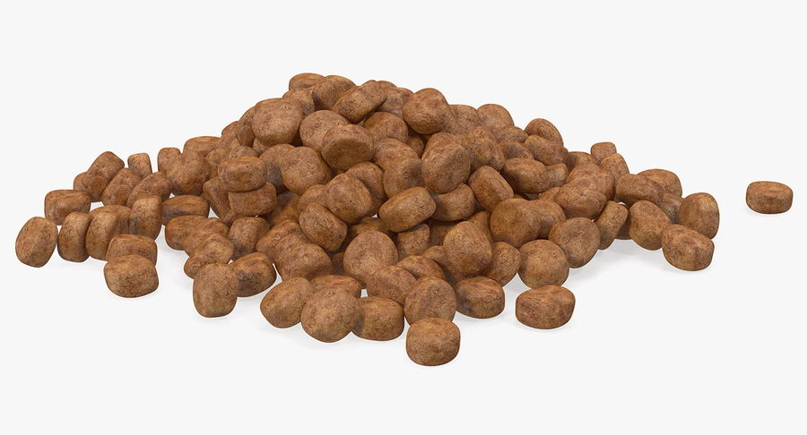 Dry Dog Food royalty-free 3d model - Preview no. 4