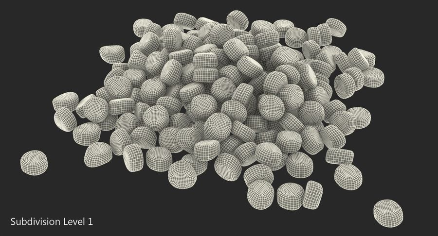 Dry Dog Food royalty-free 3d model - Preview no. 11