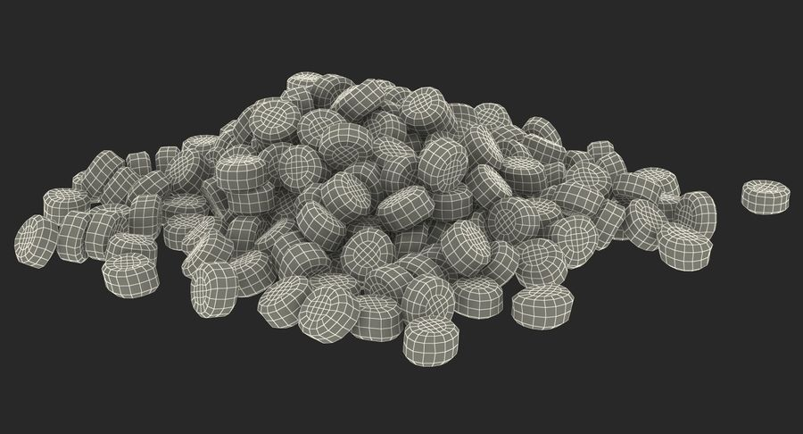 Dry Dog Food royalty-free 3d model - Preview no. 17