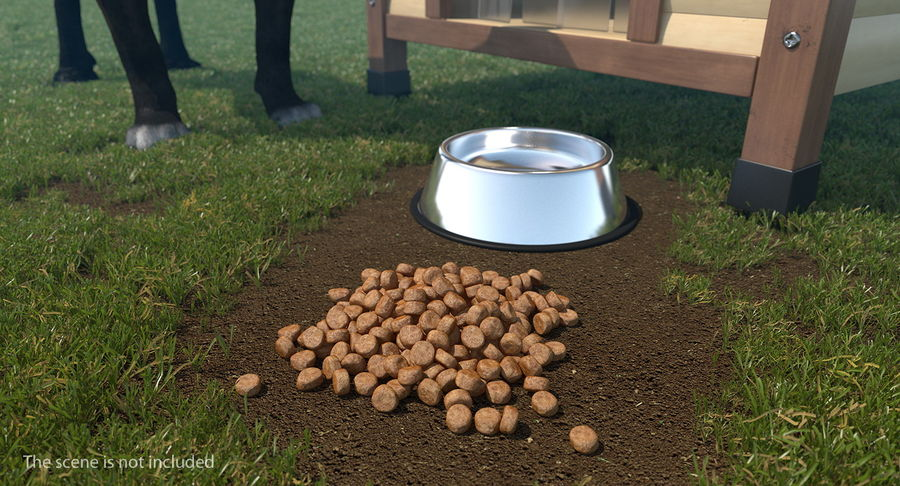 Dry Dog Food royalty-free 3d model - Preview no. 3