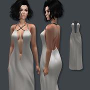 Vestido longo 3d model