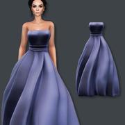 Blå klänning 3d model