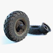 Militär lastbilshjul 3d model