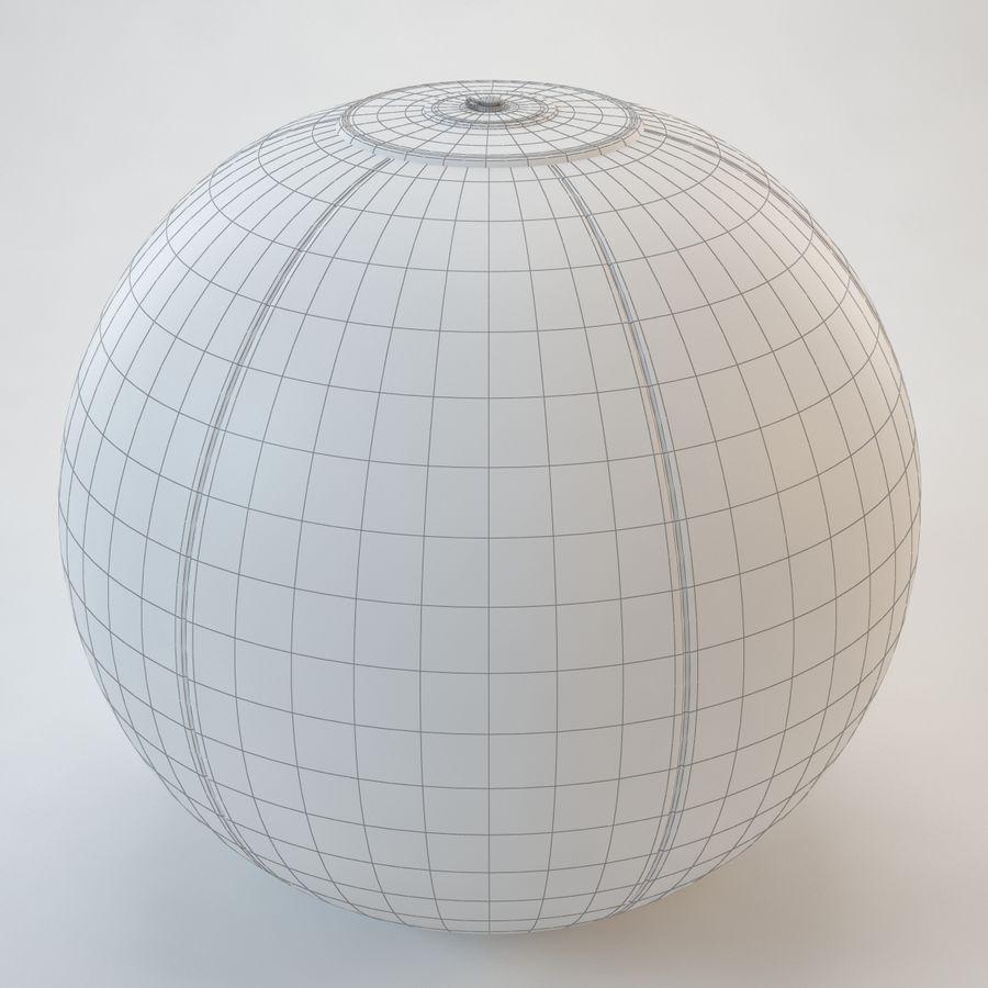 Inflatable Beach Ball royalty-free 3d model - Preview no. 23