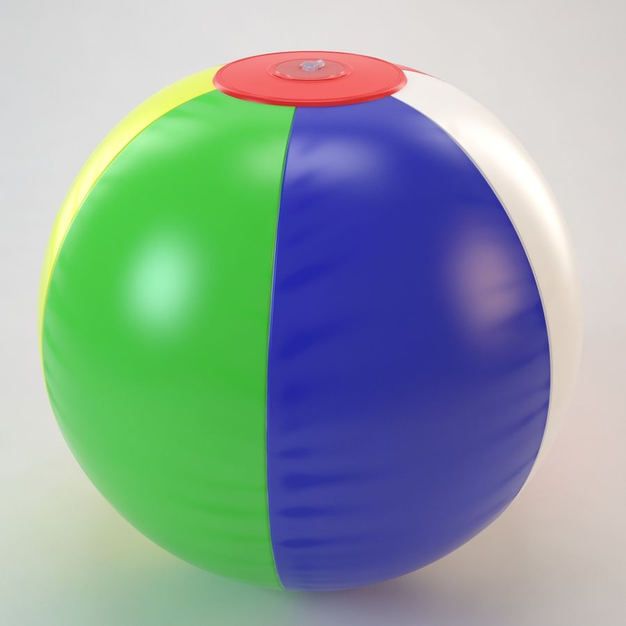Inflatable Beach Ball royalty-free 3d model - Preview no. 16