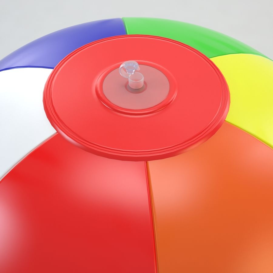 Inflatable Beach Ball royalty-free 3d model - Preview no. 5