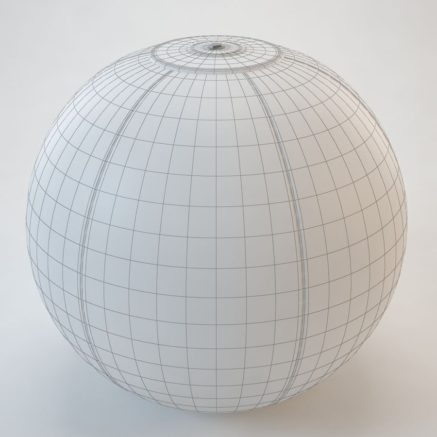 Inflatable Beach Ball royalty-free 3d model - Preview no. 11