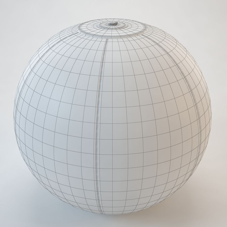 Inflatable Beach Ball royalty-free 3d model - Preview no. 17