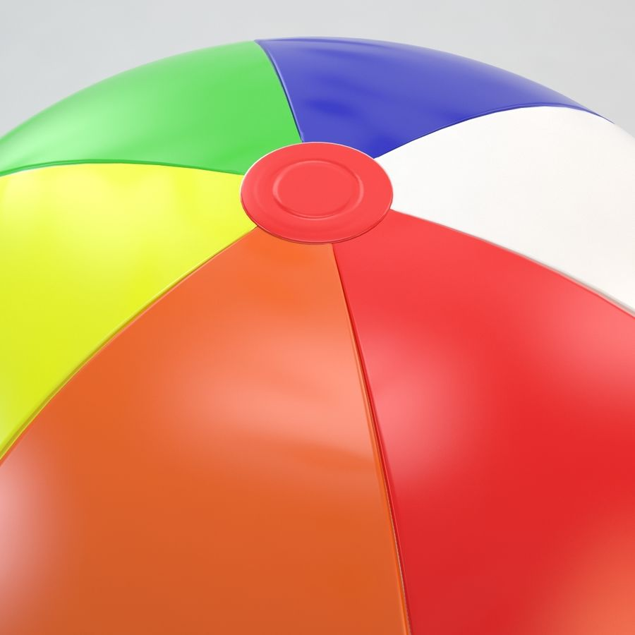 Inflatable Beach Ball royalty-free 3d model - Preview no. 7