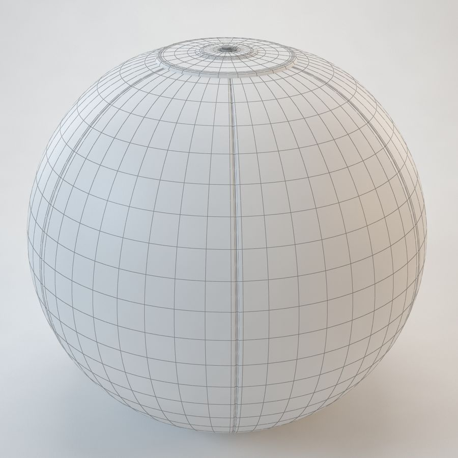 Inflatable Beach Ball royalty-free 3d model - Preview no. 15