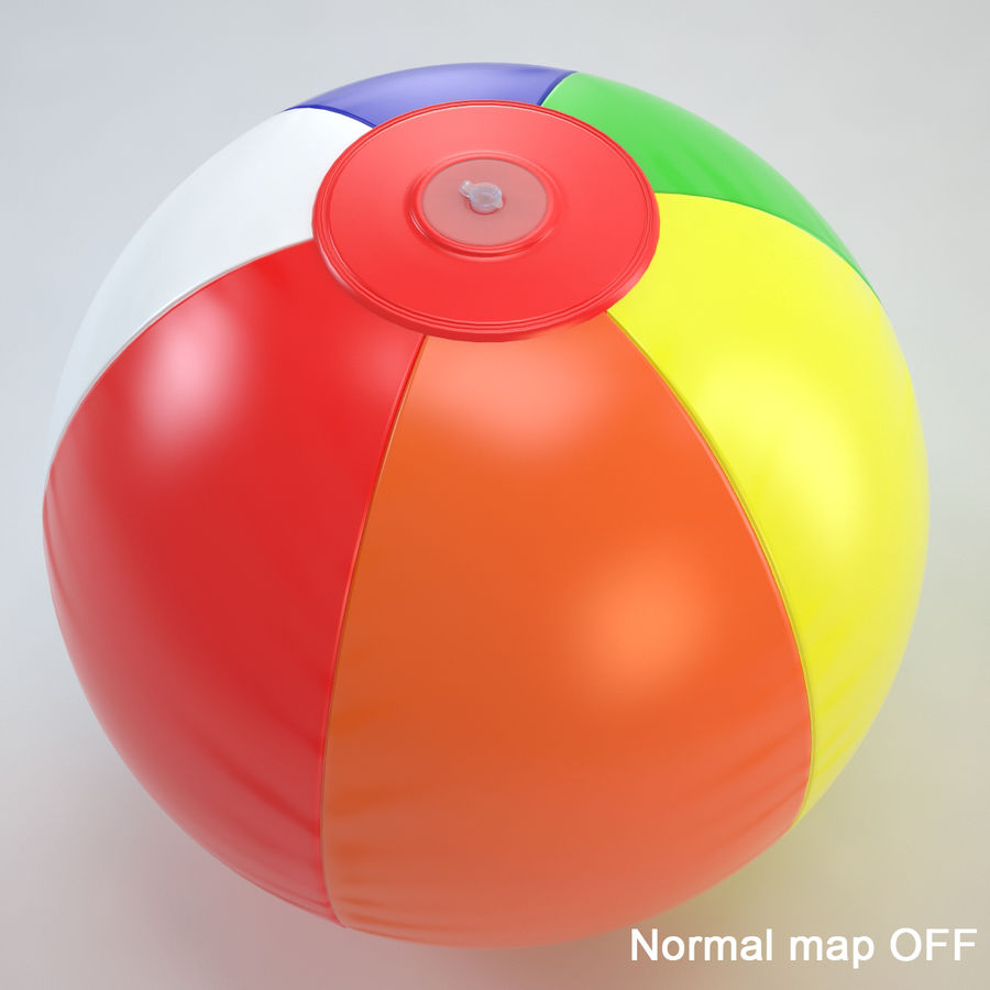 Inflatable Beach Ball royalty-free 3d model - Preview no. 24