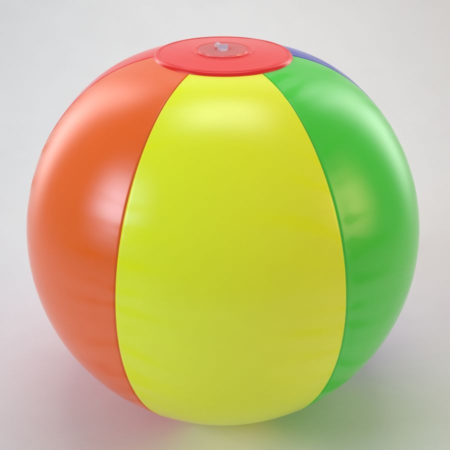 Inflatable Beach Ball royalty-free 3d model - Preview no. 20