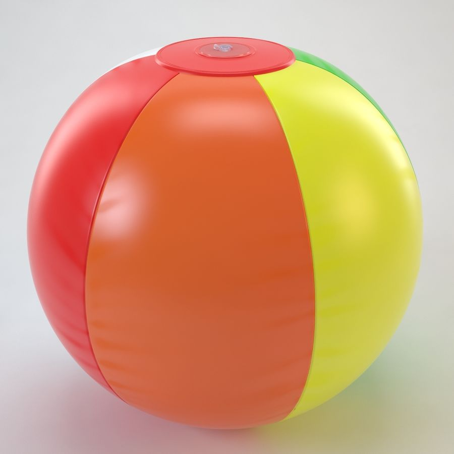 Inflatable Beach Ball royalty-free 3d model - Preview no. 22