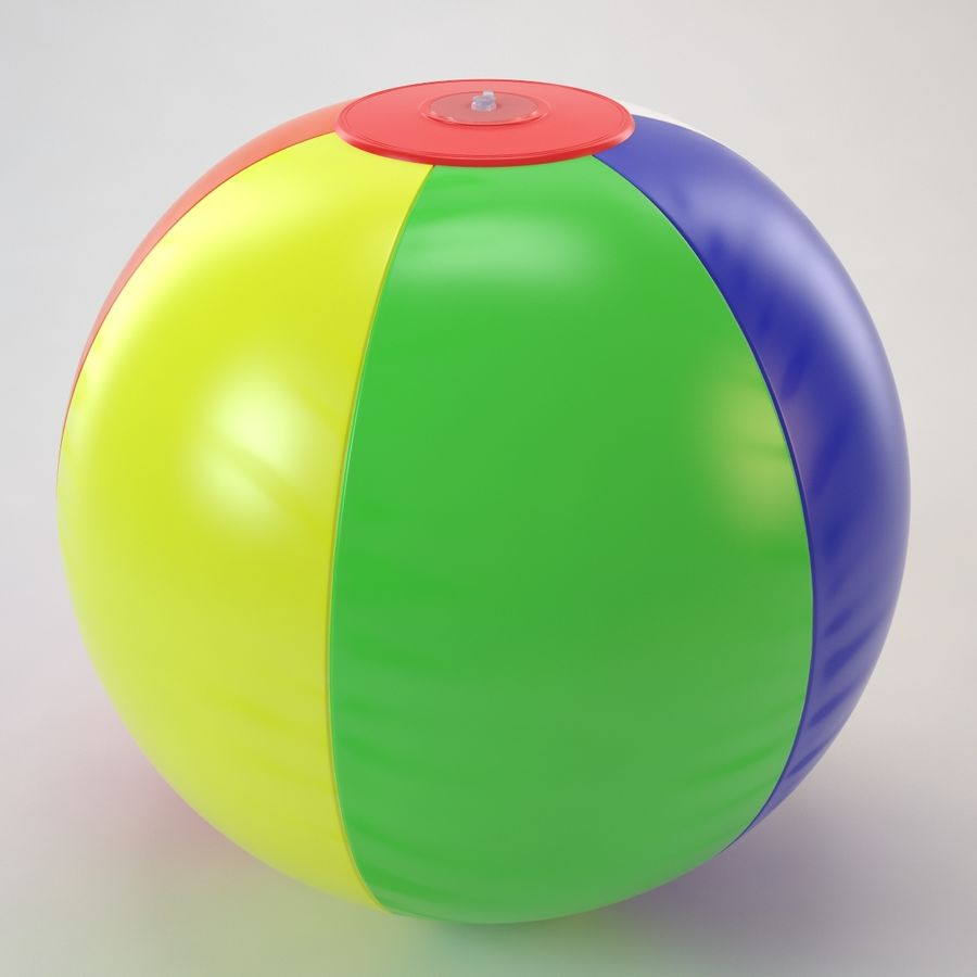 Inflatable Beach Ball royalty-free 3d model - Preview no. 18