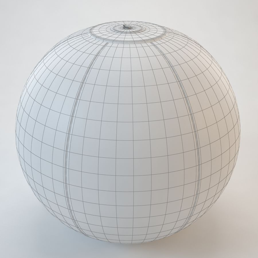 Inflatable Beach Ball royalty-free 3d model - Preview no. 21