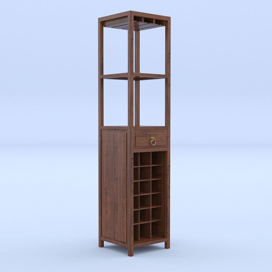 Vinhylla bokhylla royalty-free 3d model - Preview no. 1