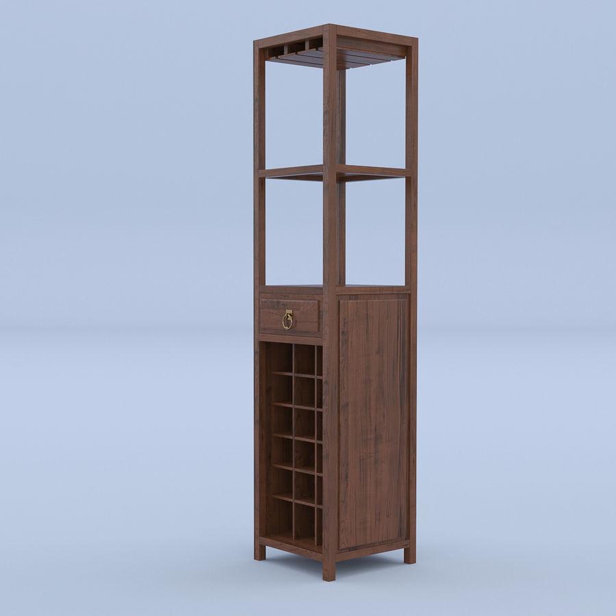 Vinhylla bokhylla royalty-free 3d model - Preview no. 5