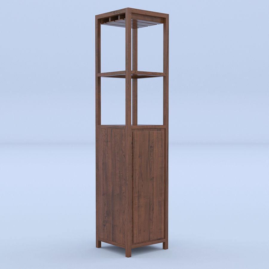 Vinhylla bokhylla royalty-free 3d model - Preview no. 4