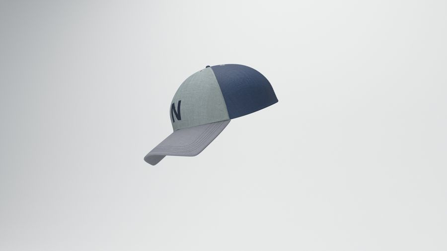 gorra de beisbol royalty-free modelo 3d - Preview no. 8