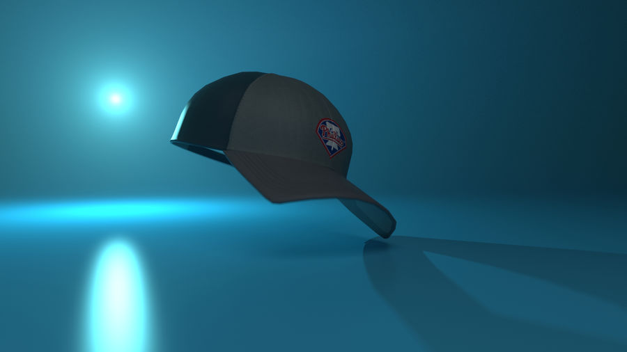 gorra de beisbol royalty-free modelo 3d - Preview no. 13