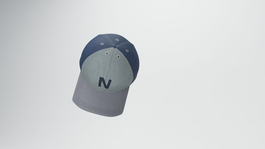 gorra de beisbol royalty-free modelo 3d - Preview no. 10