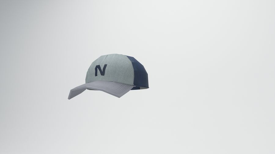 gorra de beisbol royalty-free modelo 3d - Preview no. 12