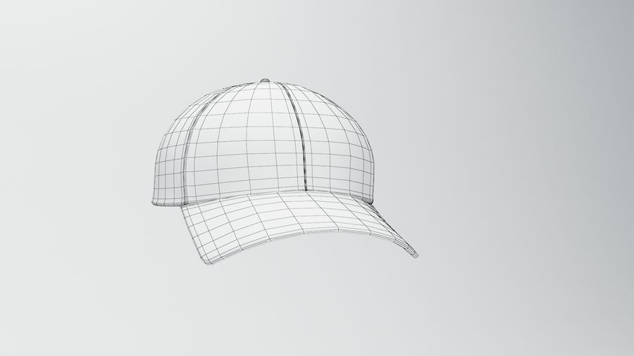 gorra de beisbol royalty-free modelo 3d - Preview no. 4
