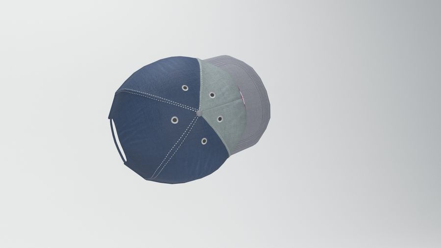 casquette de baseball royalty-free 3d model - Preview no. 7