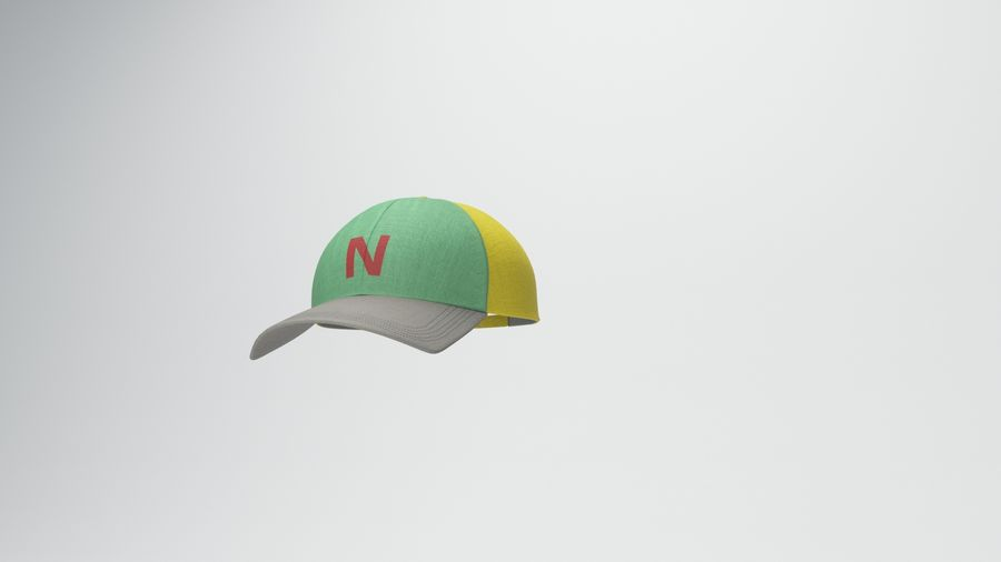 gorra de beisbol royalty-free modelo 3d - Preview no. 15