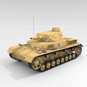 Średni czołg Panzer IV Ausf.D DAK 3d model