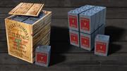 ビンテージ灯油ボックス缶 3d model