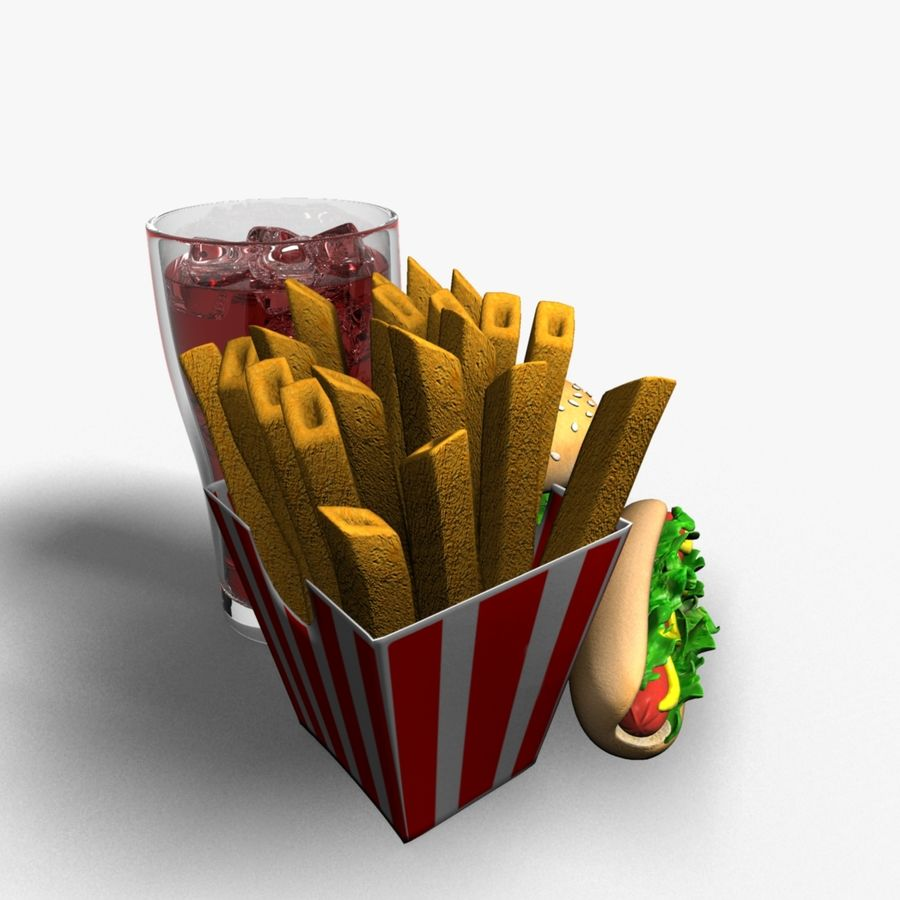 Fast food royalty-free 3d model - Preview no. 2