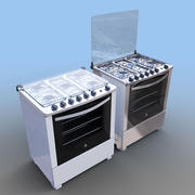 Stove Electrolux 3d model