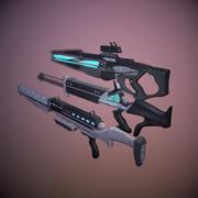 Set di armi di fantascienza 1 3d model