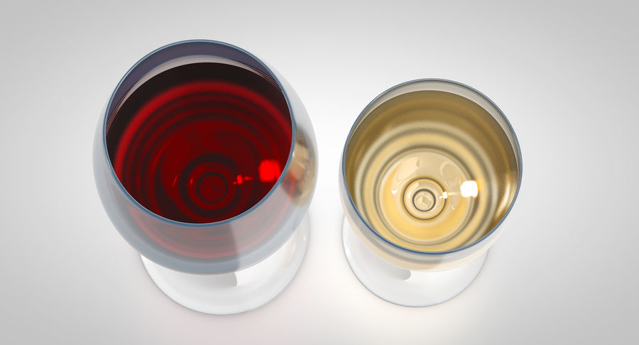 Wine Glasses royalty-free 3d model - Preview no. 7