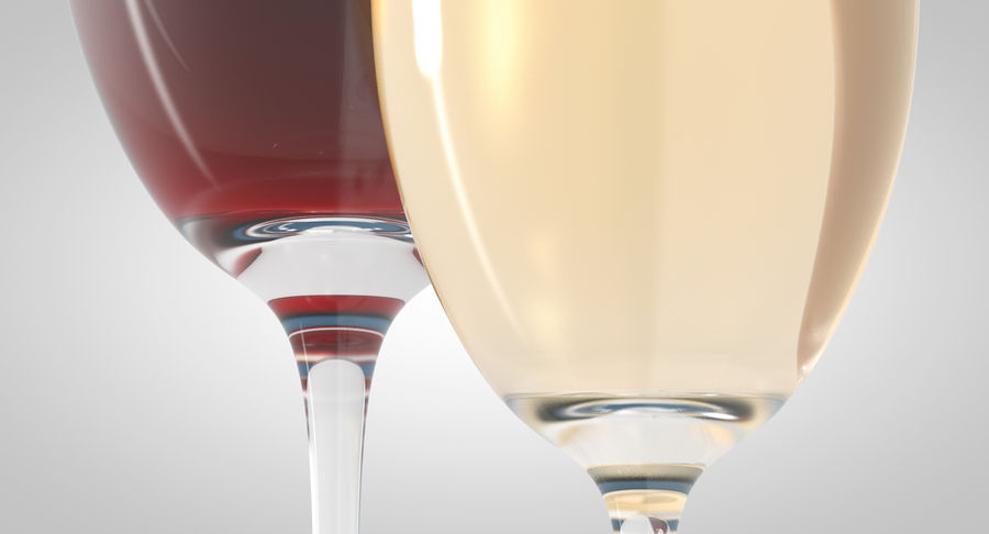 Wine Glasses royalty-free 3d model - Preview no. 4